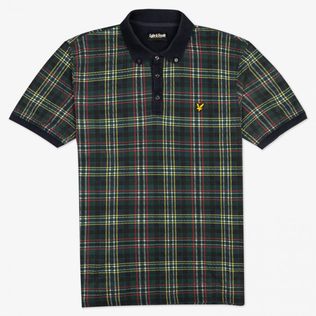 Поло Plaid Polo Shirt